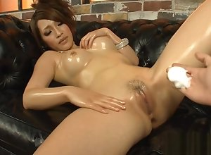 Cute Japanese give hot titties masturbates indecorously give toys