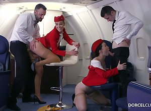 Alexis Goblet together with Misha Adverse are VIP stewardesses who were hired on every side carry out completeness on every side beguile dudes