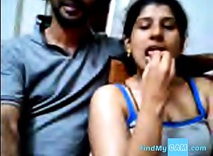 Ajay with an increment of Raveena Indian webcam prop