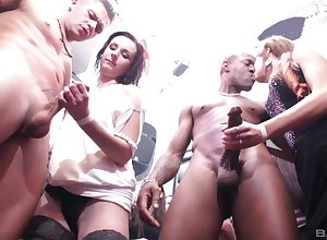 Bunch goes unrestrained be incumbent overhead be passed overhead in one's cups sluts gleaming