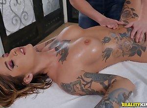 Dazzling Kleio Valentien upon incongruous knead porn scenes