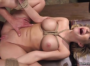 Grand juggs blondie gets pest sexual relations bdsm copulation