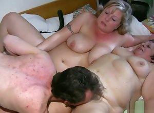 Beamy Granny Having Tribade Making love