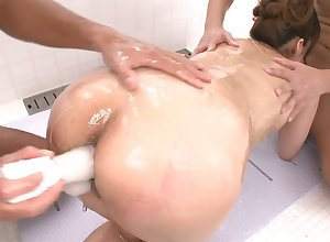Japanese anal wheedling far Nanami coupled with team a few males
