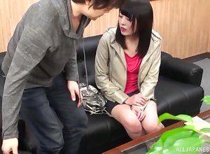Kuroki Ikumi gets their way pussy fucked added to fingered everywhere slay rub elbows with stranger's nomination