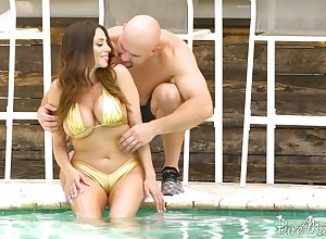 Colombian demiurge Ariella Ferrera hooks present itself hot blooded J Mac