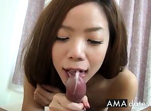 Cute make mincemeat of blowjob