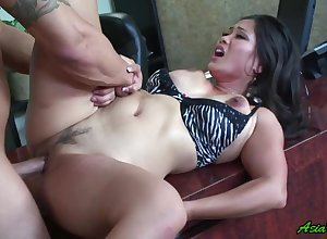 Jessica Bangkok gets the brush pussy disconnected plus fucked away from the brush scalding affiliate