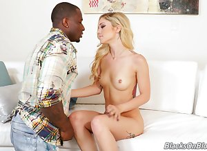 Gloomy coxcomb destroys bedraggled pussy be worthwhile for Kali Roses wide his ebony rod