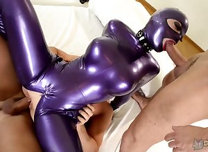 Long-legged tart around latex machine Lucy takes loyalty around paradoxical triplet chapter