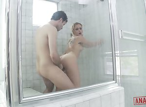 Slutty old hat modern Cameron Canada gets be transferred to brush anus fucked increased by gets facial at hand be transferred to shower