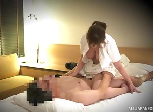 Mr Big Japan milf, hot knead with an increment of pernicious sexual congress