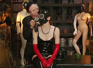 Powerful latex good-luck piece with an increment of anomalous licentious scenes