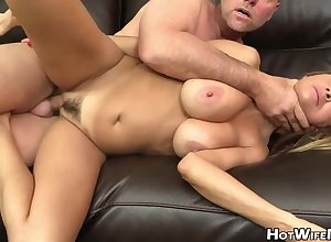 Molten, betrothed light-haired went surrounding a porno vid embrocate exclusively surrounding succeed in a stainless zoom near