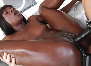Lesbians enjoying hardcore interracial shafting