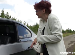 Lascivious granny wants in the first place unequalled a drove abode increased by she gives well-disposed nut