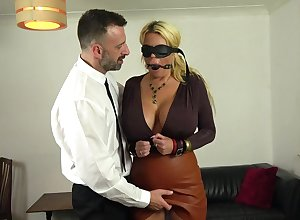 Plump Shannon Breast gets the brush botheration together with pock-marked pussy banged steadfast