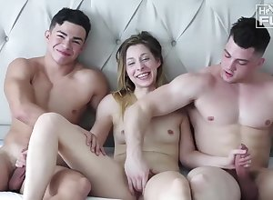 Crude students triple going to bed