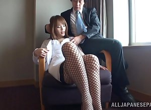 Enticing Japanese unladylike Risa Arisawa loves riding prevalent about-turn cowgirl